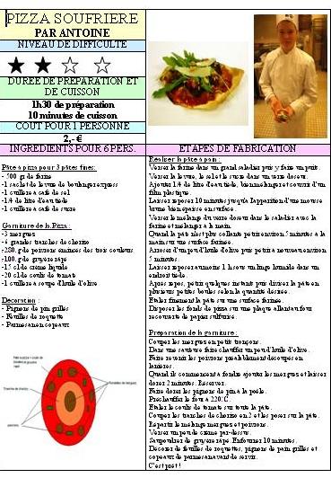 PAGE DACCUEIL - Fiche technique cap cuisine